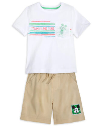 Mickey Mouse Tropical T-Shirt and Shorts Set for Boys