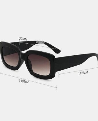 Gafas de sol cuadradas de proteccion de verano informal clasico de montura gruesa completa para mujer UV