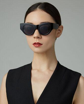 Mujer moda casual moda clasica casual UV proteccion gafas de sol de forma redonda