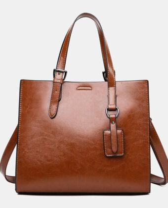 Mujer bandolera retro de gran capacidad bolsa bolso de mano bolsa